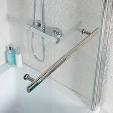 adapt p shaped shower bath 1500mm make blue adapt p shaped shower bath screen