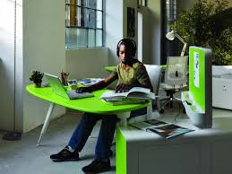 furniture exciting futuristic furniture with green office table