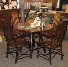 maple dining room table 42 round rustic hickory and brown maple dining table shown in