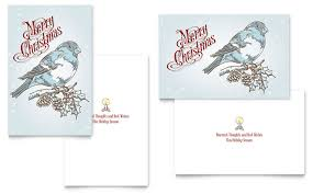 vintage bird greeting card template word u0026 publisher