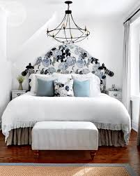 A Stark Bedroom With Floral Touches Style At Home