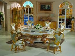 2017 italian style furniture solid wood hand carved dining room
