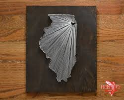 stained illinois string art chicago illinois stained nail