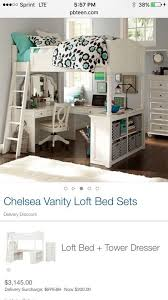 girls loft bed with a desk and vanity pb teen chelsea vanity loft bed furniture in baltimore md offerup in