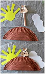 groundhog day craft for kids paper plate groundhog day ground