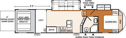 theater floor plan xlr thunderbolt amp fifth wheels floorplans by forest river rv