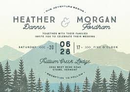 mountain wedding invitations destination wedding invitations custom wedding invites elli