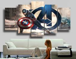 Captain America Decor Aliexpress Com Buy Framed Hd Printed Movie Super Hero Avenger
