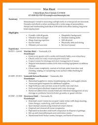 Example Housekeeping Resume by 7 Housekeeping Resume Sample Pilot Resumed