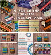 tribal patterns and cards set free