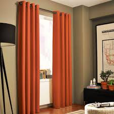 Orange Thermal Curtains Gorgeous Home Different Solid Colors Sizes 72 1