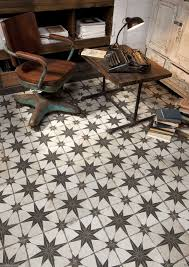 costa granada vintage moroccan encaustic pattern black white wall