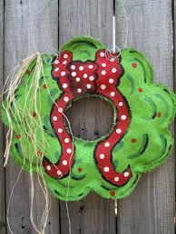 burlap christmas wreath with hand painted bow burlap door hanger