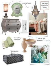 home design inspiration board green peach gray design theory