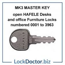 Replacement Desk Keys Hafcyl Replacement Hafele Office Furniture Lock Core Mastered Mk3