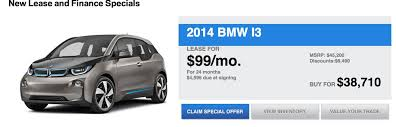 lease a bmw with bad credit bmw i3 lease deal 99 per month