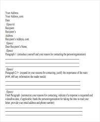 Business Letter Generic Recipient 43 Business Letter Formats Free U0026 Premium Templates