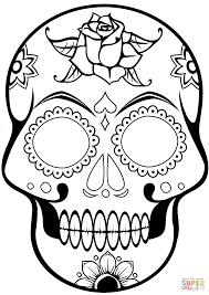 printable coloring pages sugar skulls skull coloring pages free sugar bloodbrothers me ribsvigyapan com