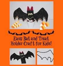 simple bat and treat holder halloween craft for kids wikki stix