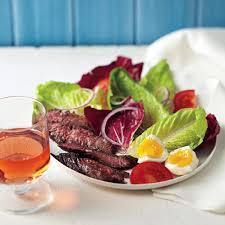 Simple Main Dish - steak and egg salad recipe