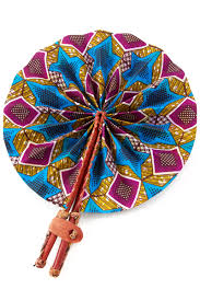 folding fans assorted ghanaian kitenge cloth leather folding fans handbags