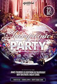 download champagne party free psd flyer template