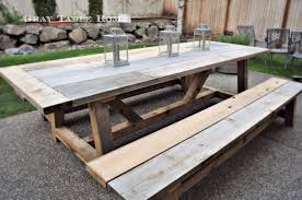 Home Hardware Patio Furniture Restoration Hardware Inspired Outdoor Table And Benches