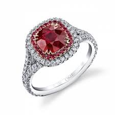 ruby diamond ring ruby with diamond rings wedding promise diamond engagement