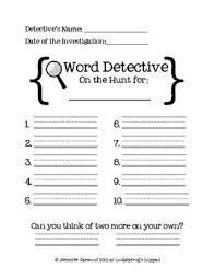 word detective center freebie by luckeyfrog teachers pay teachers