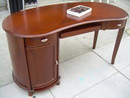 Kidney Bean Shaped Desk Mahogany Kidney Shaped Desk Bedroom Morphs Into S