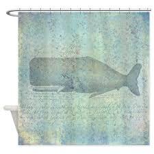 Shower Curtain Nautical Vintage Whale Illustration Nautical Shower Curtain By Rebeccakorpita
