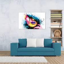 modern art canvas giclee print art abstract painting couple city