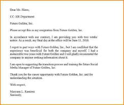 11 sample resignation letter 2 weeks notice pdf receipts template
