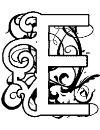 e colouring pages illuminated e alphabet coloring pages free