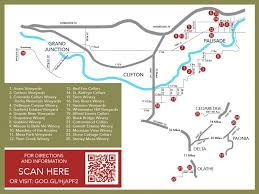 Colorado Tourism Map by Fruit U0026 Wine Byway Visit Palisade