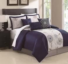 Blue And White Comforter Bedroom Interior Charming Design Of Navy Blue Comforter Sets