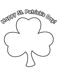 shamrock for st patricks day coloring page inside coloring pages