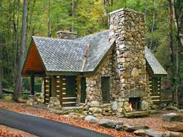 small stone cabin plans house mountain log floor kits simple