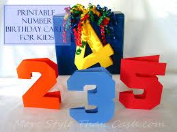 printable number birthday cards for kids printable numbers