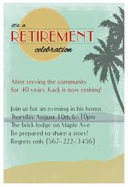 retirement party invitations retirement party invitation templates beneficialholdings info