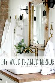 framed bathroom mirrors diy diy wood framed bathroom mirror christinas adventures