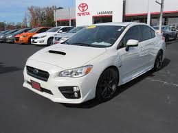 subaru impreza wrx 2017 pre owned 2017 subaru wrx premium manual sedan in lagrange l5290a
