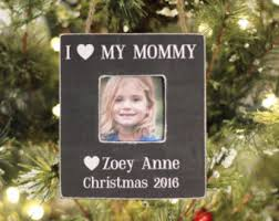 Mother Daughter Christmas Ornaments Mom And Son Ornament Etsy