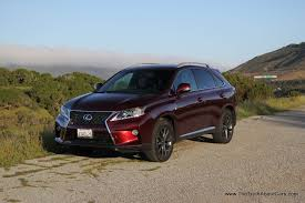 sporty lexus 4 door review 2013 lexus rx 350 f sport video the truth about cars