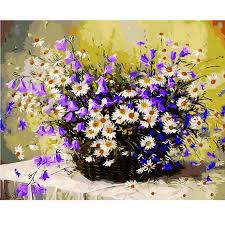 flower basket painting by number flower basket anytiny