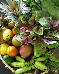 fruit and vegetable basket csa basket of local fruits veggies from santa green market
