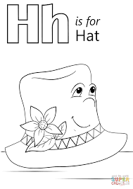 letter h is for hat coloring page free printable coloring pages