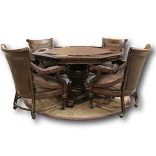 Poker Table Chairs With Casters by T S Berry Poker Table Upscale Consignment