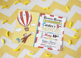 template free curious george birthday invitation template also