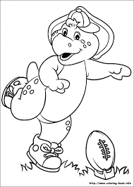 barney coloring book barney plays coloring pages